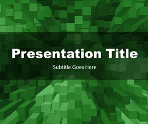 Free Stacked Boxes Green PowerPoint Template Free PowerPoint Templates