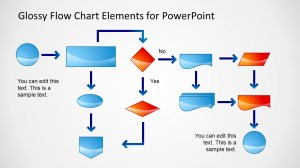 Glossy Flow Chart Template for PowerPoint  SlideModel