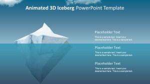 Animated 3D Iceberg PowerPoint Template  SlideModel