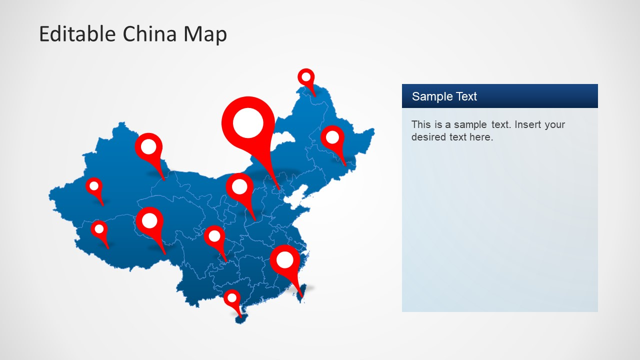 Editable China Map Template For Powerpoint Slidemodel