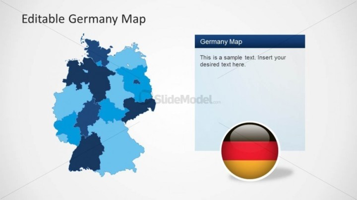 Germany Map PowerPoint Template   SlideModel Germany Map PowerPoint Template