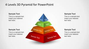 Four Labeled Segments 3D Pyramid for PowerPoint  SlideModel