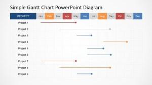 Simple Gantt Chart PowerPoint Diagram  SlideModel