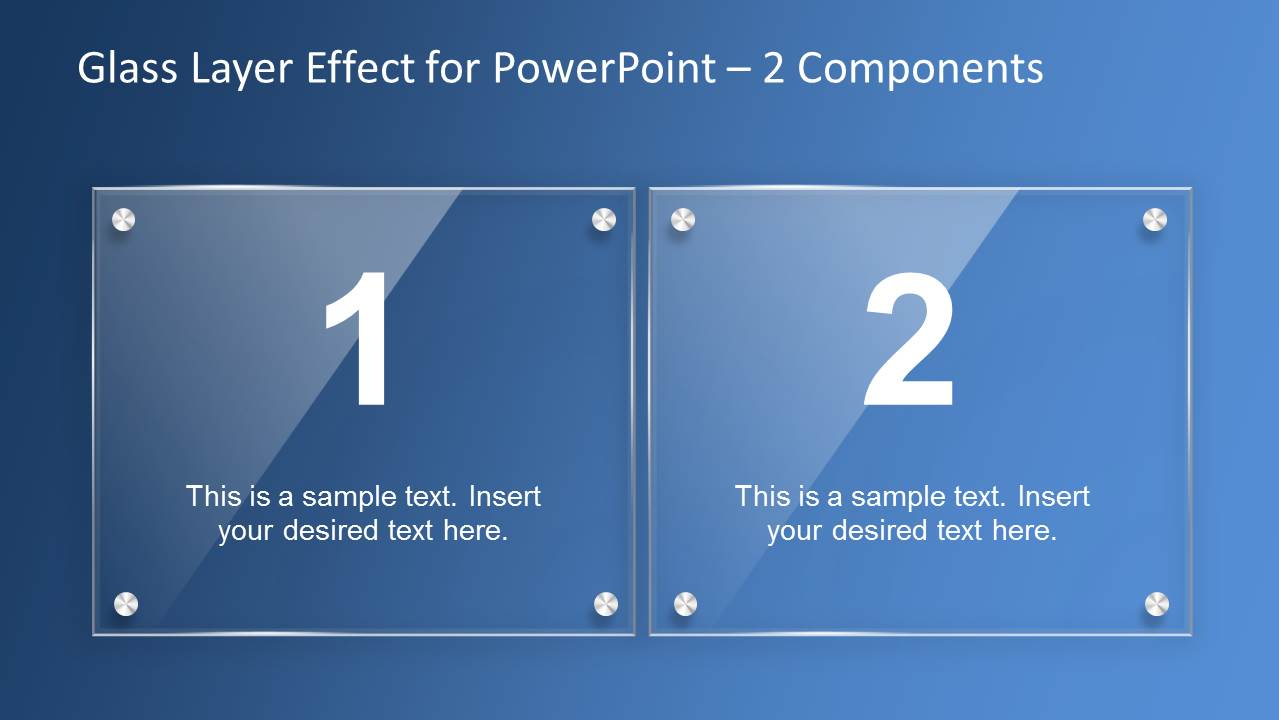 Glass Layer Effect PowerPoint Template SlideModel