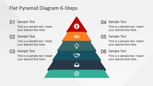 6 Steps Flat Pyramid PowerPoint Diagram  SlideModel
