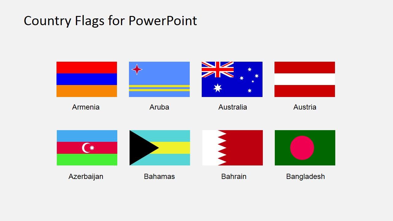 Flags For Map Powerpoint Presentation Slidemodel