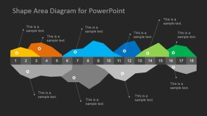 Dark Infographics Area Chart Template for PowerPoint