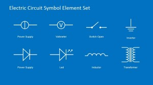 Electric Circuit Symbols Element Set for PowerPoint  SlideModel