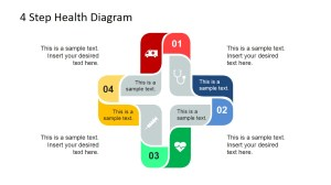 4 Step Cross Healthcare Diagram for PowerPoint  SlideModel