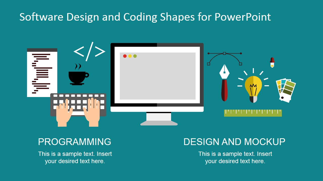 Software Design And Coding Shapes For PowerPoint