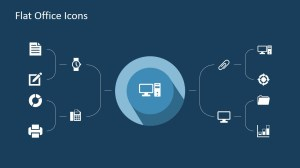 Flat Office PowerPoint Icons  SlideModel