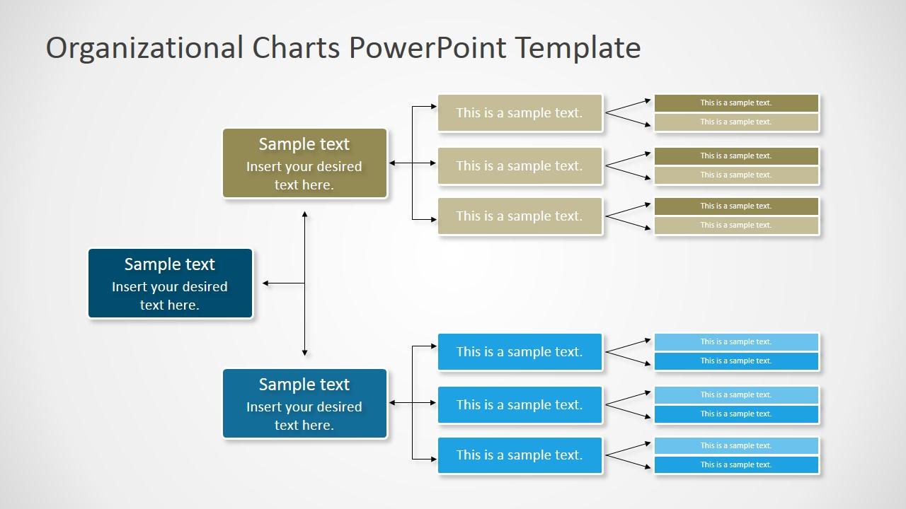 Horizontal Orgchart Powerpoint Diagram Slidemodel