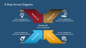 4 Step Arrows Diagram for PowerPoint  SlideModel