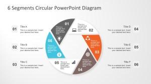 6 Segments Circular PowerPoint Diagram