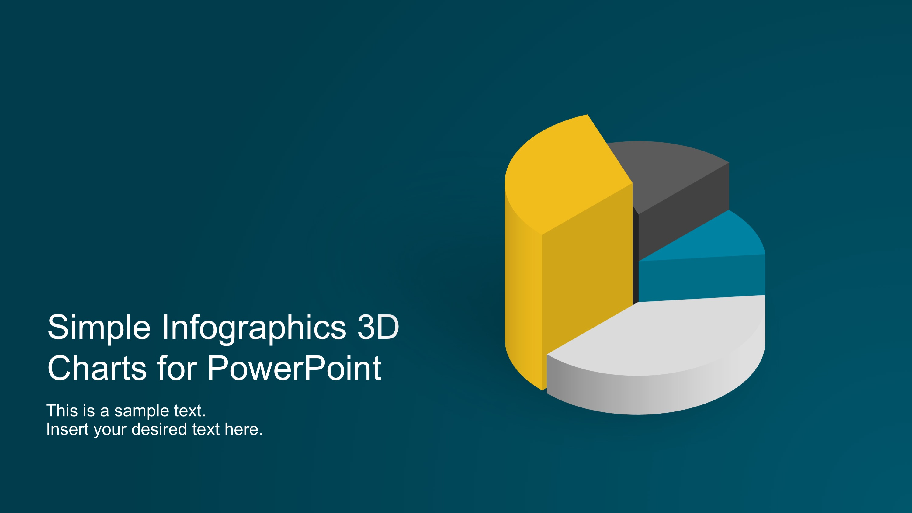 Simple Infographics 3d Charts For Powerpoint