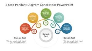 Pendant Shape Diagram of 5 Steps  SlideModel