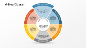 6 Step Circular Diagram with 2 Levels for PowerPoint  SlideModel