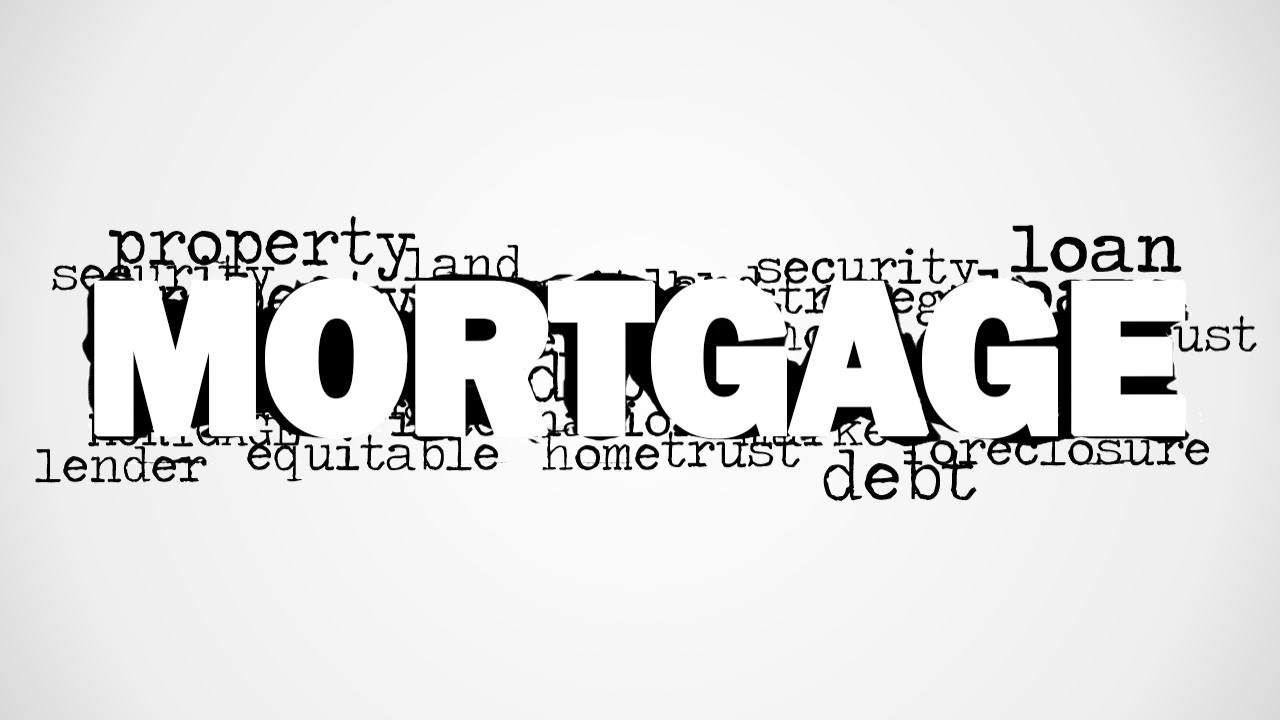 Mortgage Word Cloud Picture For PowerPoint SlideModel
