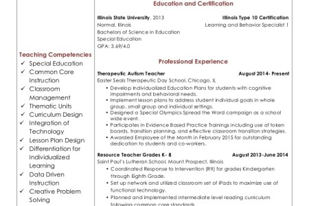 Special Education Teacher Certification Illinois - The Best ...