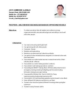 Ordinary Seaman Resume Sample  sample resume format for