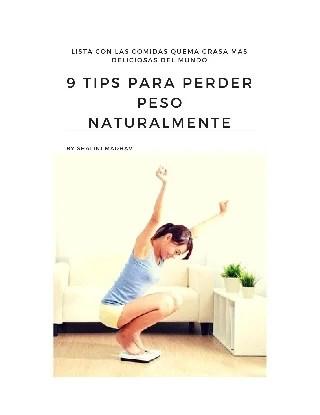 9 tips para perder peso naturalmente