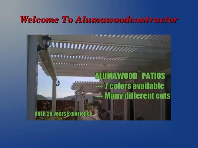 solid alumawood patio covers