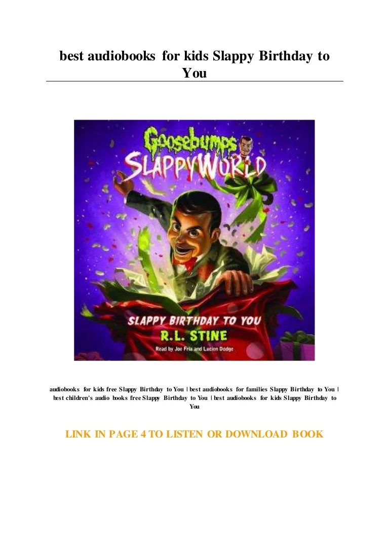 Best Audiobooks For Kids Slappy Birthday To You