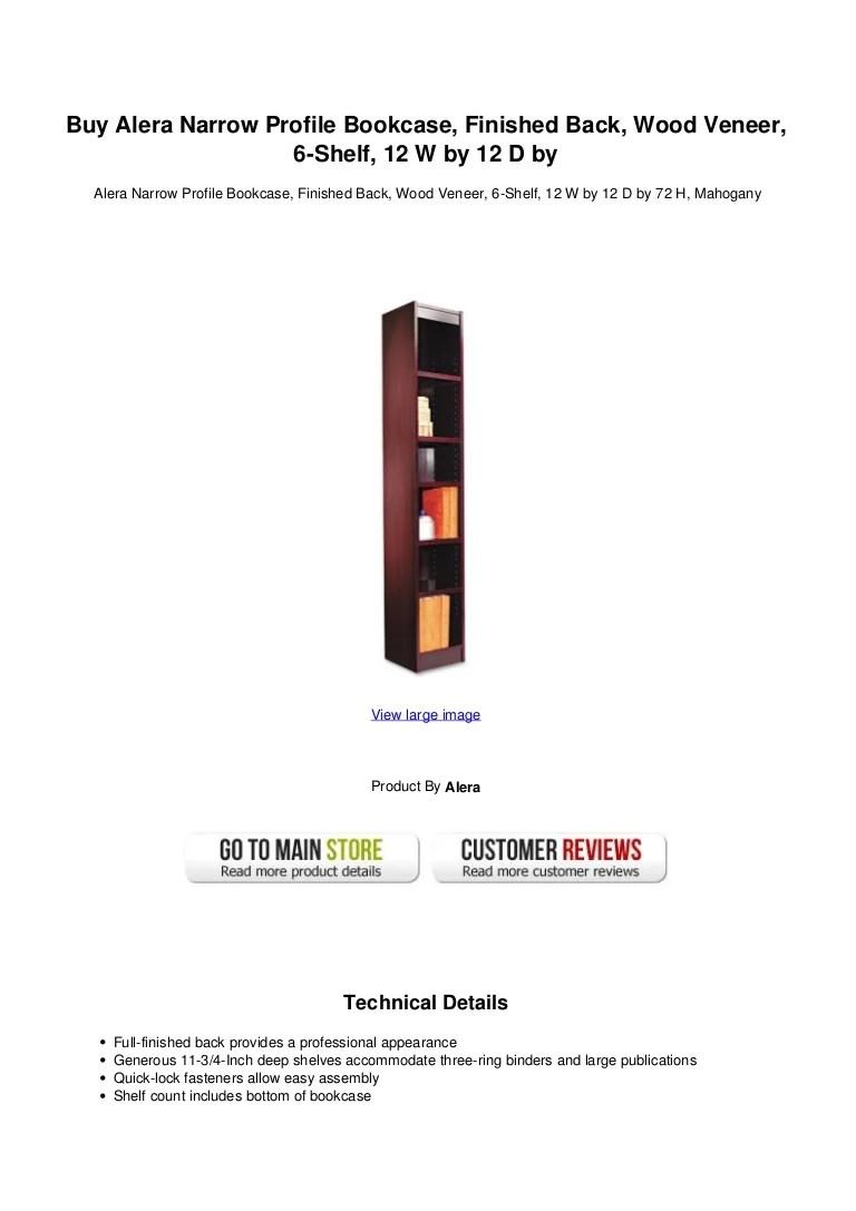 Buy Alera Narrow Profile Bookcase Finished Back Wood Veneer