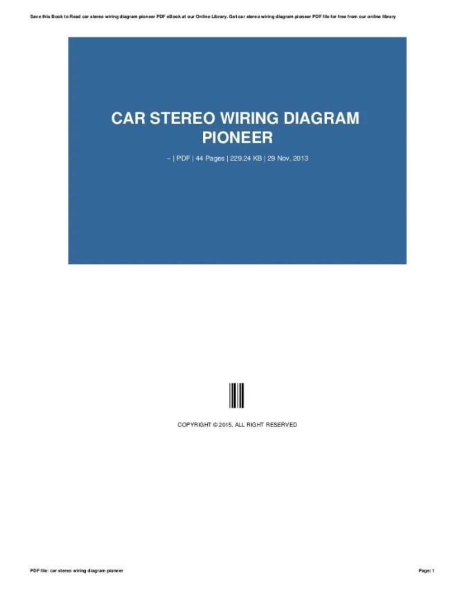 car stereo wiring diagram pioneer