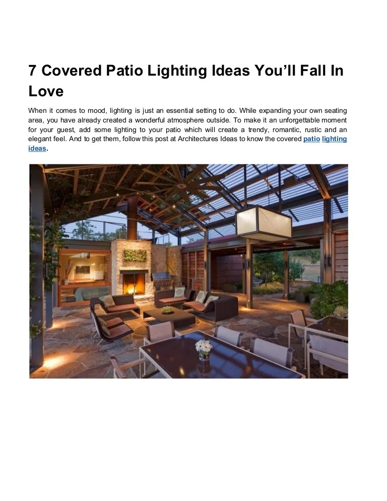 covered patio lighting ideas you ll