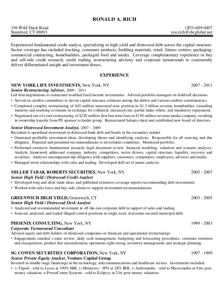 Equity research analyst cover letter