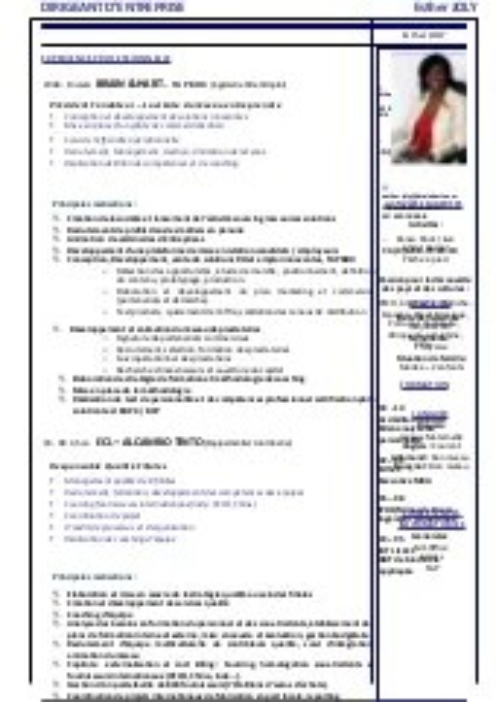 Cv Auditeur Junior En Management