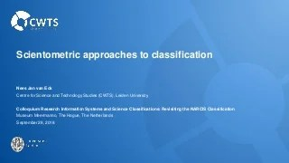 Scientometric approaches to classification