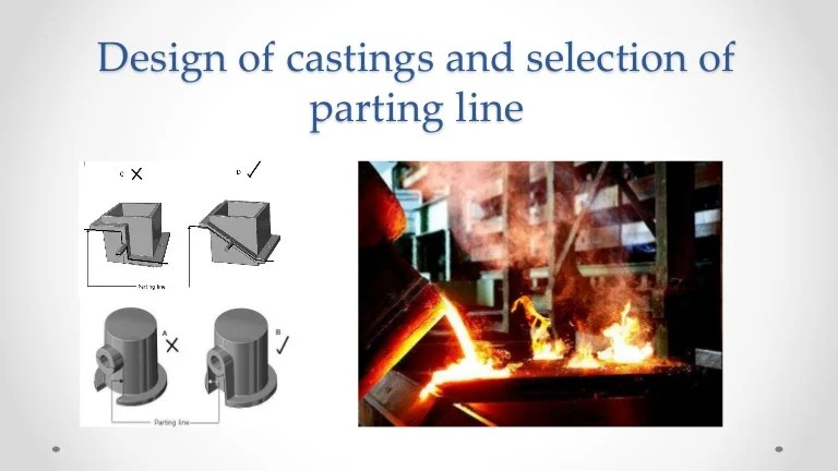 Design Of Castings And Selection Of The Parting Line