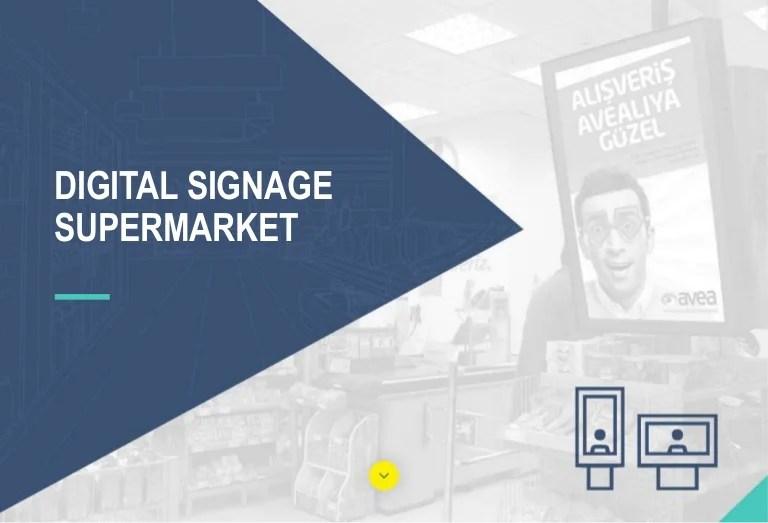 digital signage for supermarkets