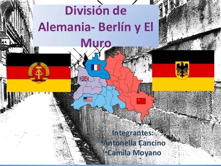 Berlin De Mapa Division La Alemania De