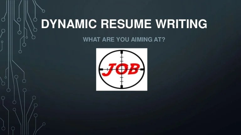 dynamic resume writing workshop