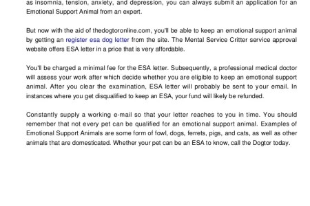 Free Professional Resume Emotional Support Animal Letter Pdf - Service dog letter template