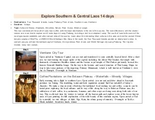 Explore southern & central laos 14 days