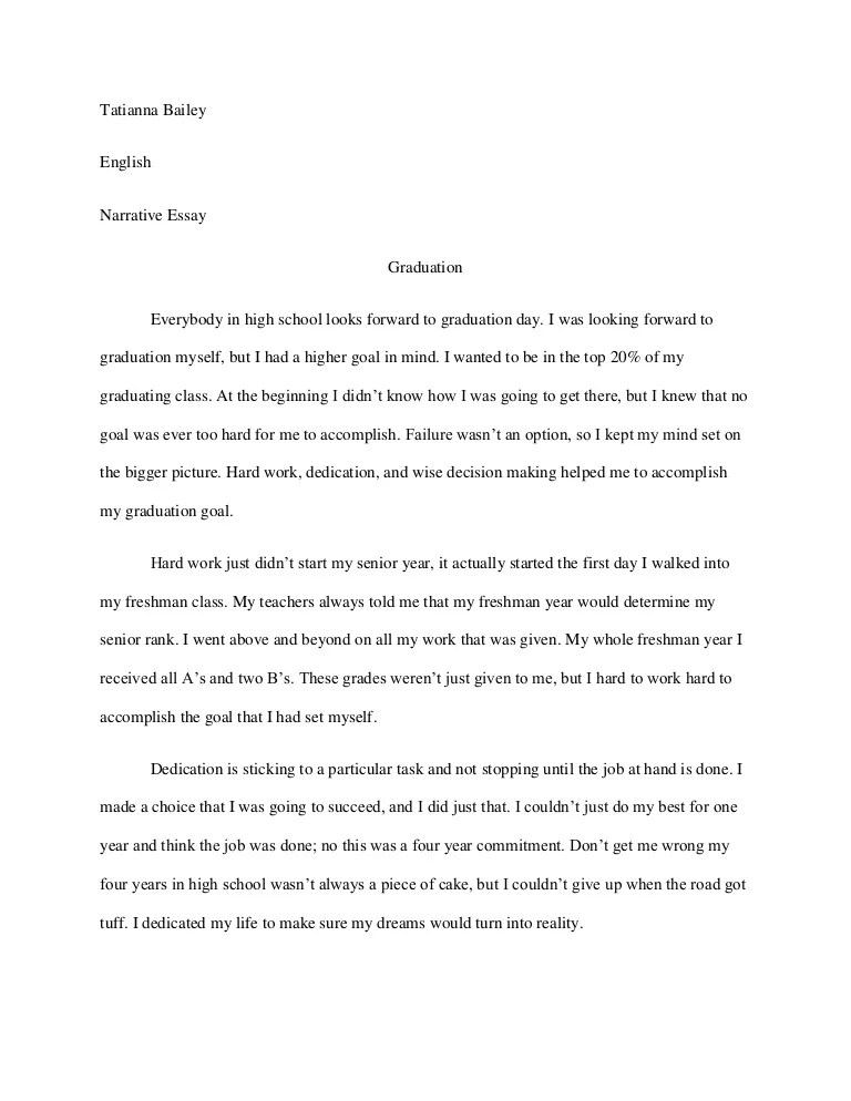 personal narrative essay example middle school  mistyhamel