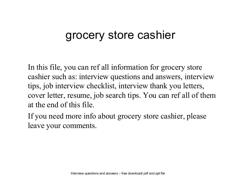 Resume For Cashier In Grocery Store. images frompo. grocery store ...