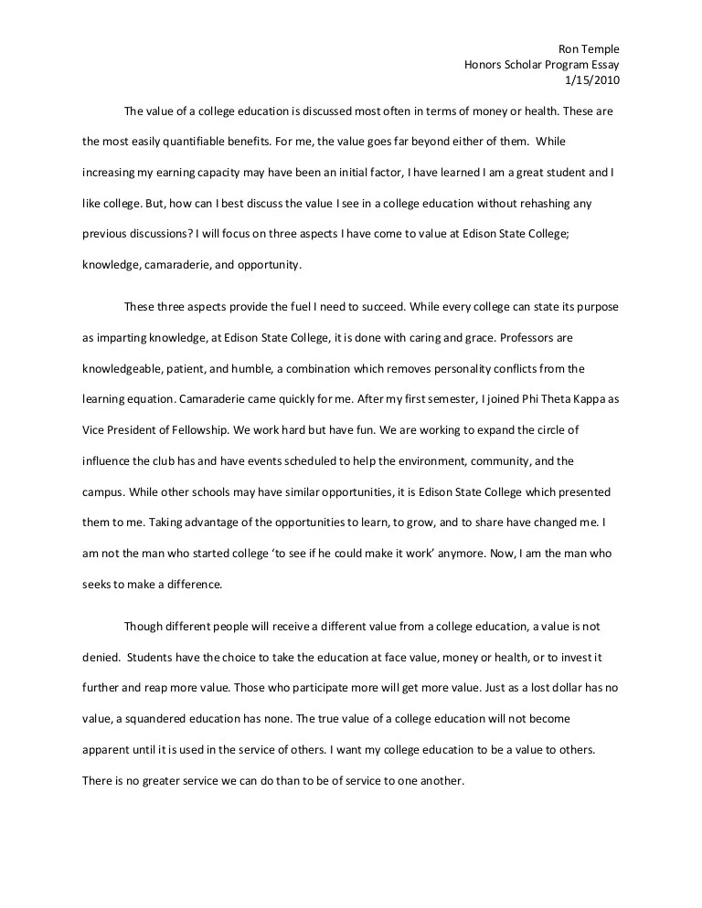 Education Essays  Exemplification Essay Thesis also Characteristics Of A Hero Essay Honors College Essay Examples  Mistyhamel Essay On Antigone
