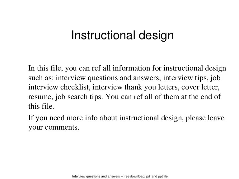 instructional designer cover letters template