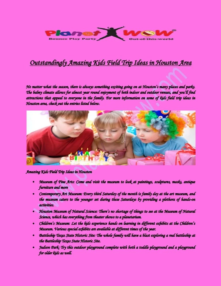 Birthday Party Ideas And Fun Place For Kids Houston