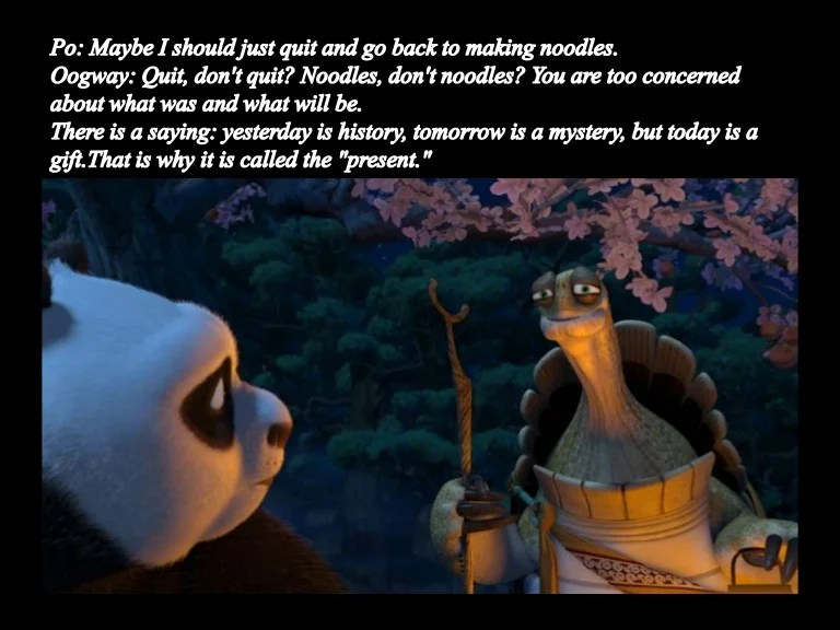 Image result for there are no accidents quote kung fu panda