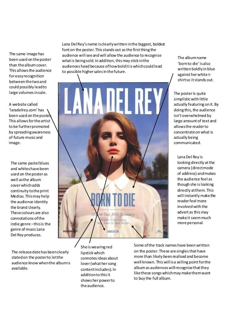 lana del rey poster analysis