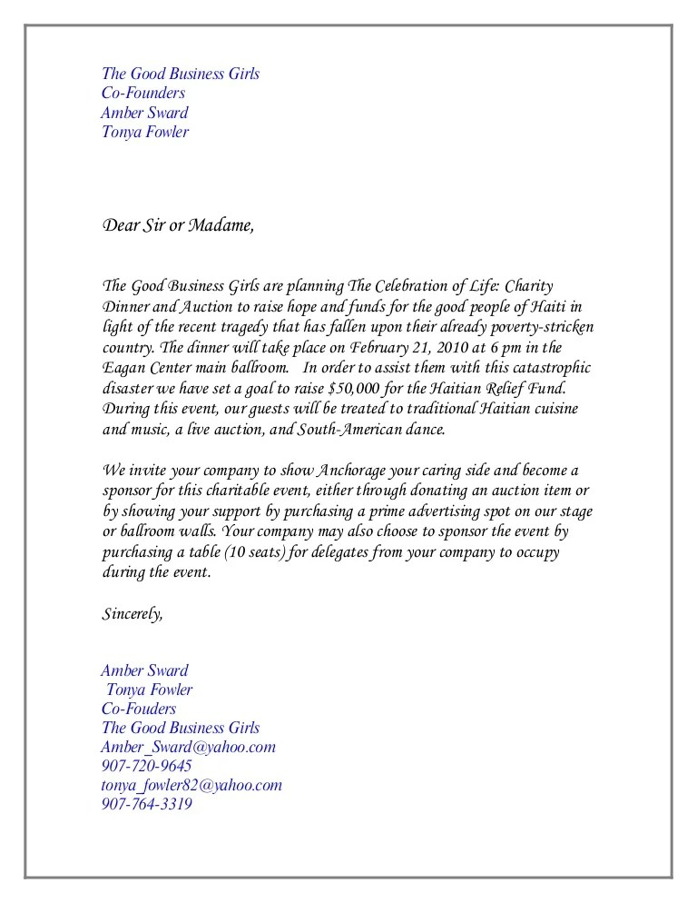 Charity dinner invitation letter inviview charity event invitation letter sample invitationswedd org stopboris Choice Image