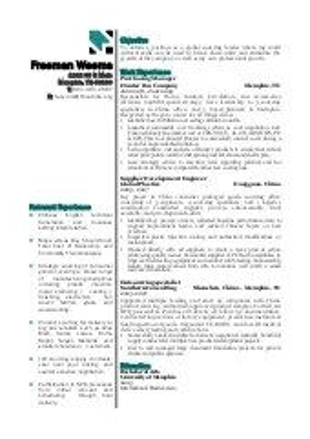 global sourcing resume
