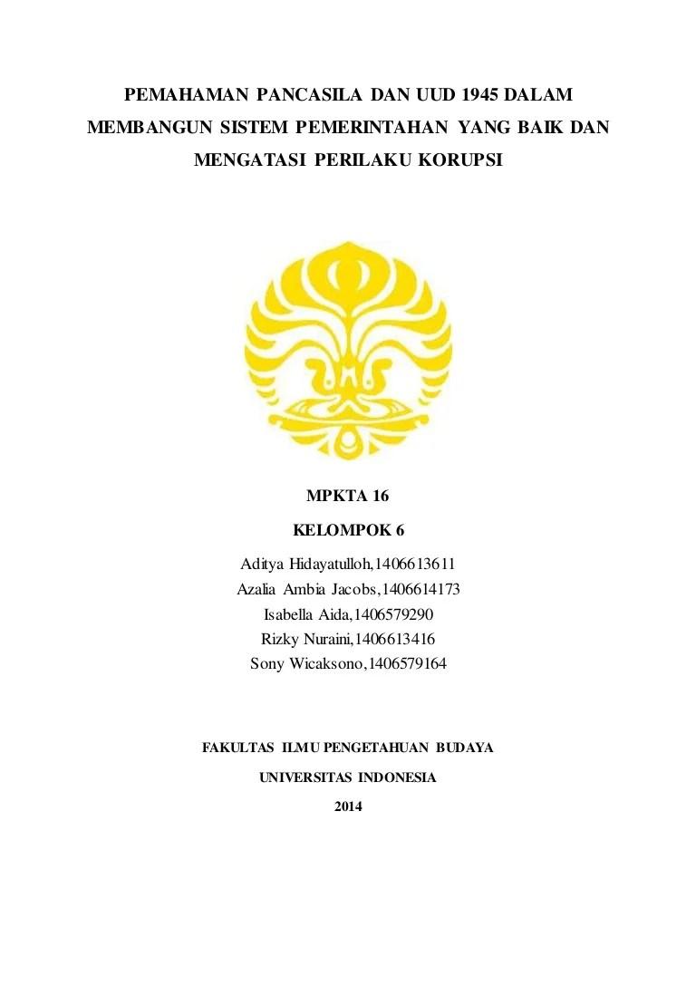 15 Judul Makalah Anti Korupsi
