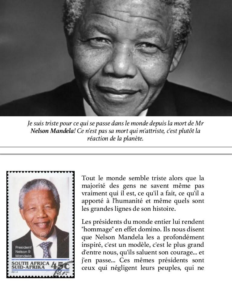 Nelson Mandela N Est Pas Mort
